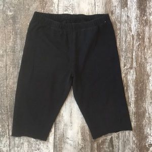 CHILDRENS PLACE CUT OFF BIKER SHORTS MEDIUM 7/8